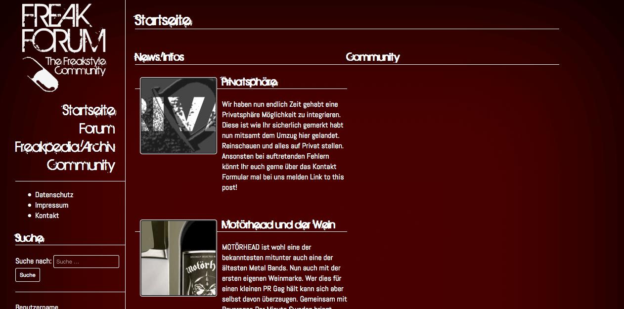 Community System, Webdesign Entwicklung