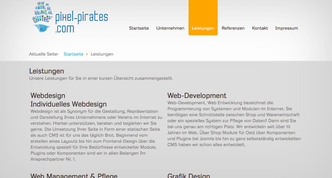Pixel Webdesign aus Freiburg