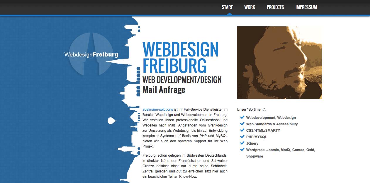 Webdesign Onepager aus Freiburg